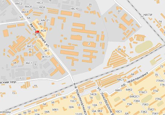 Карта проезда в офис компании «Автобус-Тур»